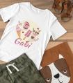 Tricou Personalizat Fete - Ice Cream - Nume - Printbu.ro - 2