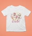 Tricou Personalizat Fete - Ice Cream - Nume
