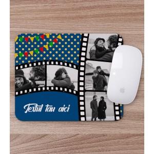Mousepad Personalizat - Dreptunghi - Film Strip - 5 Poze - Text - Printbu.ro - 1