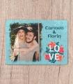 Puzzle Personalizat - Magnetic - LOVE - Poza si Doua Nume