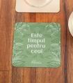 Suport Pahar Personalizat - Este Timpul Pentru Ceai - Text