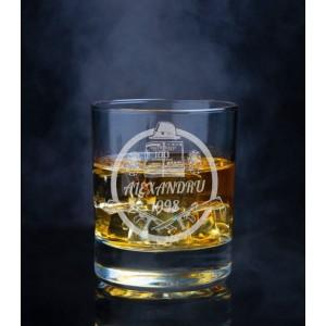 Pahar Whisky Personalizat - 100 Dollars - Nume si An - Printbu.ro - 1
