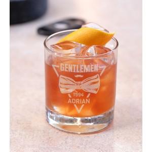 Pahar Whisky Personalizat - Gentlemen - Nume si An - Printbu.ro - 1