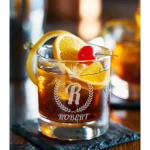 Pahar Whisky Personalizat - Initiala - Nume - Printbu.ro - 1