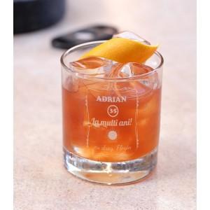 Pahar Whisky Personalizat - La Multi Ani - Nume si Varsta - Printbu.ro - 1