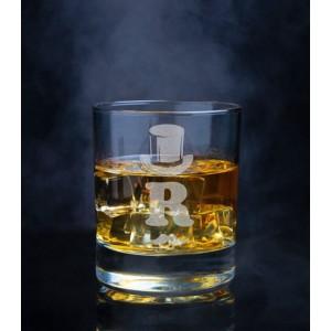 Pahar Whisky Personalizat - Initiala 2 - Nume - Printbu.ro - 1