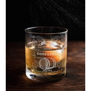 Pahar Whisky Personalizat - The Godfather - Nume si Data - Printbu.ro - 1
