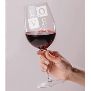 Pahar Vin Personalizat - Gravat - LOVE - Nume - Printbu.ro - 1