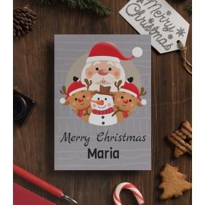 Felicitare Personalizata - Merry Christmas - Nume - Printbu.ro - 1