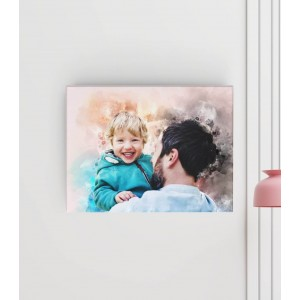 Tablou Canvas Personalizat - Watercolor - Printbu.ro - 1