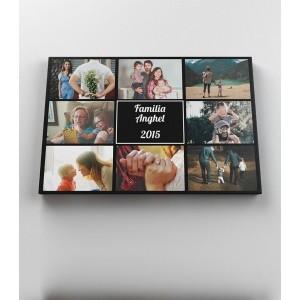 Tablou Canvas Personalizat - Familie - 8 Poze - Printbu.ro - 1