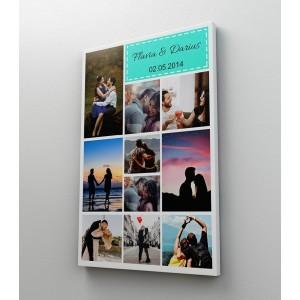Tablou Canvas Personalizat - Colaj 10 Poze si Text - Printbu.ro - 1